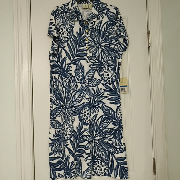 e007958caf7 Caribbean Joe tropical pattern shift dress XL NWT